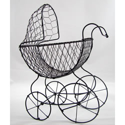 Party Decorations - Wire Baby Carriage Medium