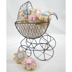 Party Decorations - Wire Baby Carriage Large