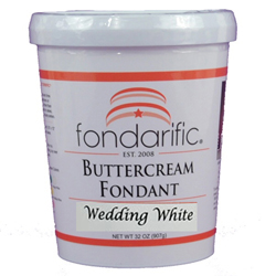 Fondarific Buttercream Fondant WEDDING WHITE 2 lb