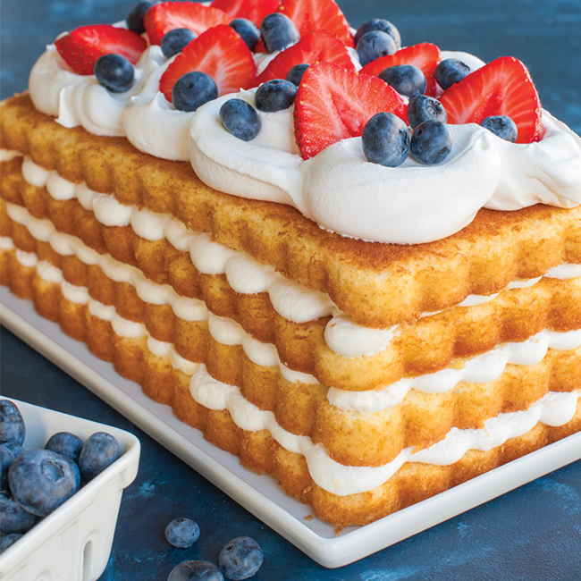 Layered Vanilla Butter Loaf Cake