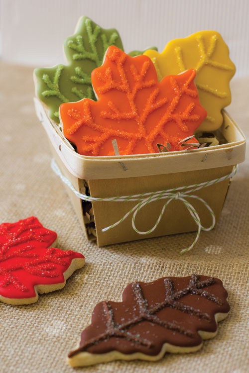 Sparkling Autumn Leaf Cookies