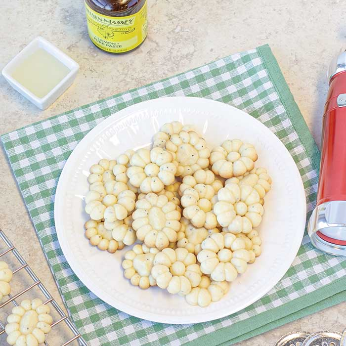 Lemon Poppy Seed Spritz Cookies