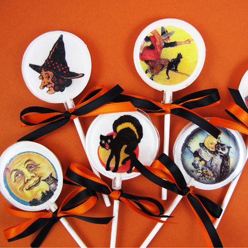 Vintage Halloween Lollipop How-To