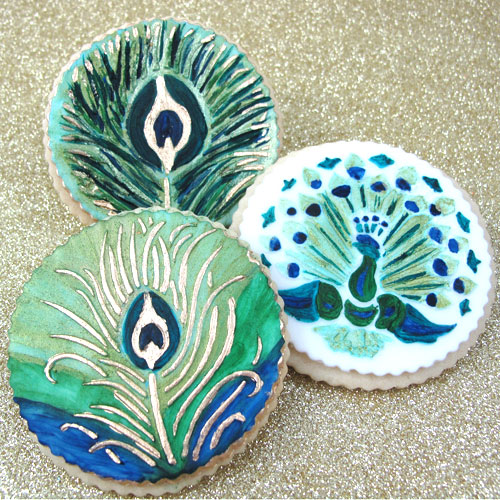 Peacock Stencil Cookies How-To