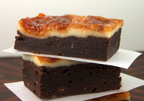 Cheesecake Topped Brownies with Pumpkin Butter Swirl