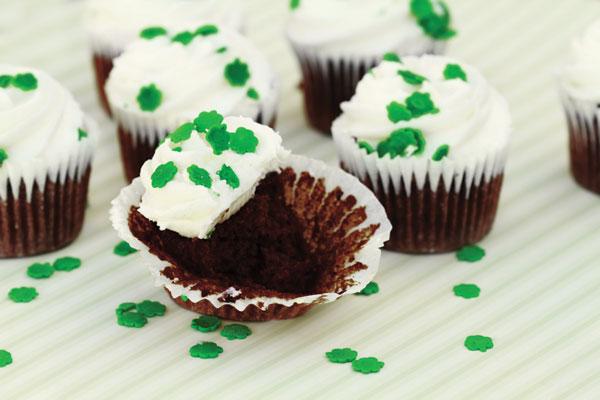 Chocolate Stout Cupcakes with Irish Cream Buttercream