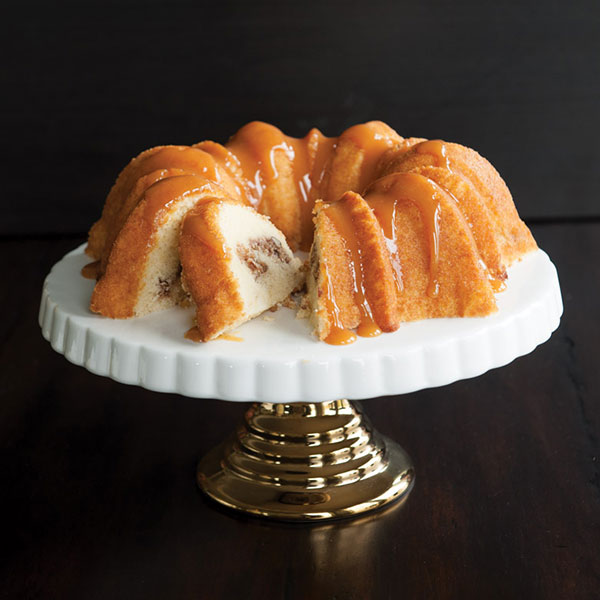 Cinnamon Swirl Bundt with Honey Caramel Glaze