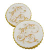 Gold Filigree Wafer Paper