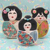 Cookie Cutter Japanese Dolls, Set of 3