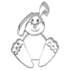 Cookie Cutter Bunny Stainless Steel