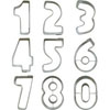Cookie Cutter Numbers Small Set of 9, Tin