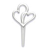 Silver Double Heart Cupcake Picks, Set of 12
