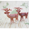 Small Reindeer Cupcake Decorations, Set of 6