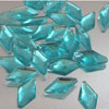 Edible Sugar Diamond Shape Blue, Package of 30