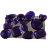 Edible Sugar Gem Stone Assortment Violet, Set of 14