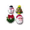 Sugar Assorted Christmas Charms, Set of 24