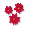 Sugar Poinsettias, Set of 6
