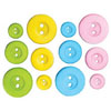 Sugar Colored Button Assortment, Set of 12