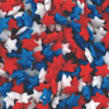 Red, White and Blue Patriotic Star Sprinkles