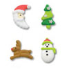Icing Retro Christmas Icons, Set of 12