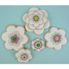 Fabulous Fondant Florals Peach & Mint Set of 32