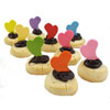 Fondant Funky Heart Assortment Set of 60