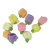 Icing Tiny Half Rose Assorted Colors, Set of 50