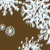 Snowflake Crystals Chocolate Transfer Sheet