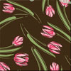 Tulips Pink Chocolate Transfer Sheet