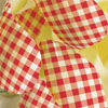 Red Gingham Chocolate Transfer Sheet