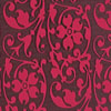 Floral Scroll Raspberry Chocolate Transfer Sheet