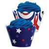 Reversible Cupcake Wrapper 4th of July
