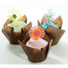 Muffin Cup Folded Brown