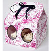 Pink & Black Toile Cupcake Boxes Large, Set of 3