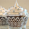 Filigree White Cupcake Wrapper