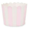 Muffin Cup Scalloped Stripe Marshmallow Pink, Pkg of 25