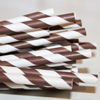 Striped Paper Straws Chocolate Brown, Package of 25