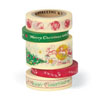 Cavallini Christmas Decorative Tape, 5 Assorted Ro