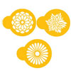 Modern Flower Cookie and Cupcake Stencil, Set of 3