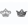 Royal Crowns Cookie Stencil , Set of 2
