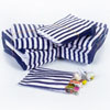 Blue Vintage Striped Candy Bags, Set of 10
