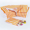 Orange Vintage Striped Candy Bags, Set of 10