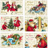 Cavallini Glitter Vintage Christmas Post Cards