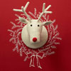 Naturally Cute Reindeer Head Hanging Wall Deco