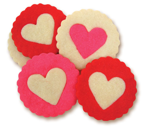 Two Color Heart Cookies How-To