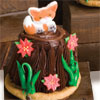 Woodland Critter Tree Stump Cupcakes
