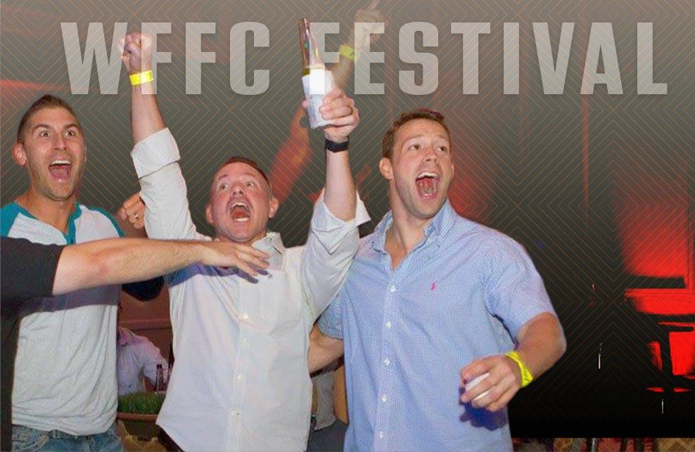 Fans celebrating