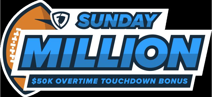 Sunday Million. $50K Overtime Touchdown Bonus