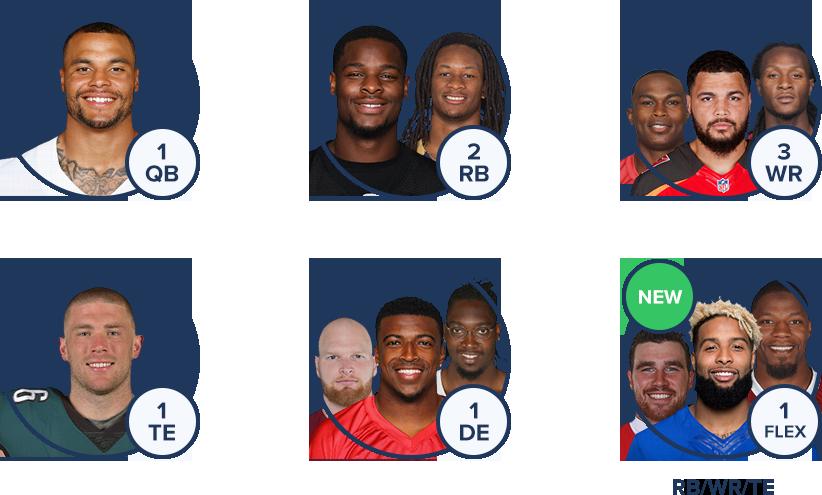 FanDuel NFL Lineup - New for 2018, No kicker