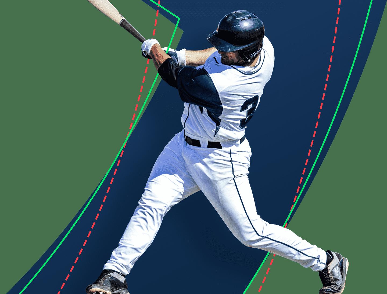 Fantasy Baseball Player Swinging A Bat